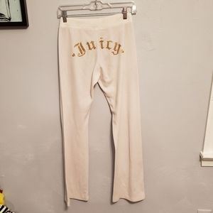 Juicy Couture White Velour Tracksuit Pants
